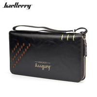 Baellerry Luxury Brand Men Wallets High Capacity Clutch Bag Oil Wax Leather Men Wallet Coin Purse