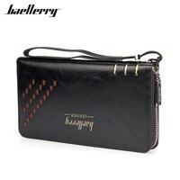 Baellerry Luxury Brand Men Wallets High Capacity Clutch Bag Oil Wax Leather Men Wallet Coin Purse