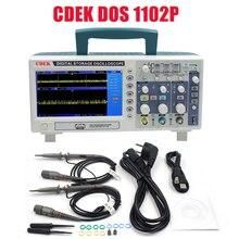 جهاز رسم الذبذبات الرقمي CDEK DSO1102P محمول 100 ميجاهرتز 2 قنوات 1GSa/s طول السجل 40K USB LCD راسم الذبذبات مقارنة DSO5102P