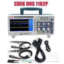 CDEK DSO1102P Digital Oscilloscope Portable 100MHz 2Channels 1GSa/s Record Length 40K USB LCD Oscilloscopes compare DSO5102P