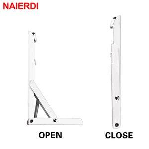 Image 5 - NAIERDI Support dangle triangulaire pliant, Support résistant, fixation murale réglable pour Table en étagère, matériel pour mobilier, 2 pièces