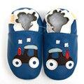 Натуральная Кожа Детская Обувь Мультфильм Первый Уокер Мальчиков Мягкой Подошвой Детские Мокасины Детская Обувь Синий Baby Дети Обувь Тапочки Обувь