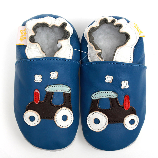 Genuine Leather Baby Shoes Cartoon First Walker Boys Soft Sole Baby Moccasins Infant Shoes Blue Baby Kids Shoes Slipper Footwear