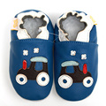 Sapatos de Bebê de Couro genuíno Primeiro Walker Meninos Mocassins de Sola Macia Do Bebê Dos Desenhos Animados Infantil Sapatos Azul Bebê Crianças Sapatos Chinelo Calçado