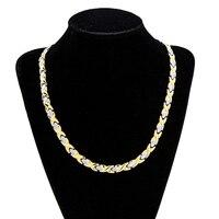 Moda Collana Dichiarazione A Buon Mercato Lungo Argento-oro Collana Donne Regalo Collana In Acciaio Inossidabile Magnetico