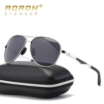 5f9e1bb416 Gafas de sol polarizadas para hombre AORON gafas de sol retro clásicas para  hombre gafas de