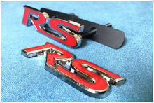 New Rs Metal Front Grill Emblem Sticker Badge Accessories For Ford Focus Mondeo Edge Fiesta Taurus Ecosport Escort C Max Ka Kuga