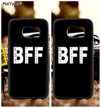 BFF best friends forever soft TPU edge phone cases for samsung s6 edge plus s7 edge s8 s9 S10 plus lite e note8 note9 case bff heart best friends soft tpu edge cell phone cases for samsung s6 edge plus s7 edge s8 plus s9 s10 plus lite e note 8 9 case