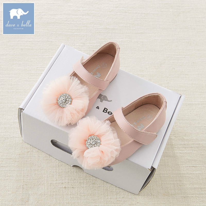 DB6747 Dave Bella spring baby girl leather shoes children brand shoes