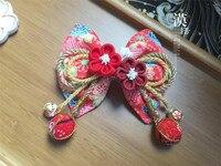 lolita hand made hairpin cotton cloth hair clip barrettes Japanese kimono anime cosplay accessories