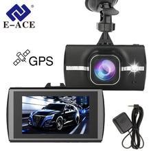 E-ACE Car Dvr With GPS Tracker Dash Camera Full HD 1080P Video Recorder ADAS LDWS Camcerder Night Vision Auto Registrar DVRs