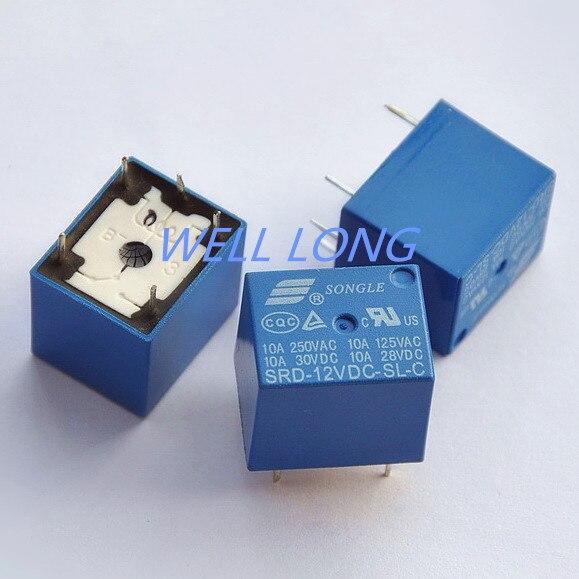 5 pcs/lot ) 12V DC Coil SPDT Power Relay,250V AC/30V DC ,10 Amps ...