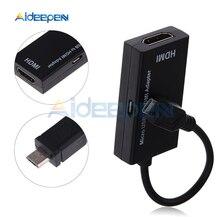 Микро USB к HDMI 1080P HD аудио адаптер конвертер HDMI Женский к Micro HDMI Мужской кабель Разъем для видео ТВ ПК 720P