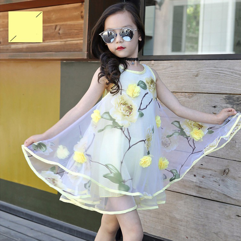 2017 Summer Flower Girl Dresses Kids Voile Sleeveless Mini Dress Vestidos  Ball Gown Children Party Dress for Graduation Gown D30-in Dresses from  Mother ... d381c554fbe7