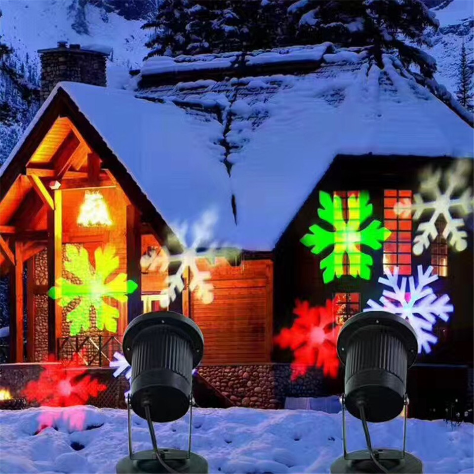 Holiday projection light Christmas laser projector led stage lamp IP65 waterproof Christmas outdoor lawn lamp night projection