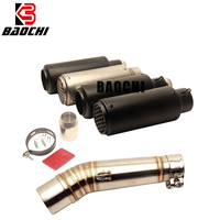 Motorcycle Exhaust System Middle Tube Escape Muffler 51MM DB Killer for Honda NC750X NC750S 2012 Zu 2017 2018 NC700X NC700S SC