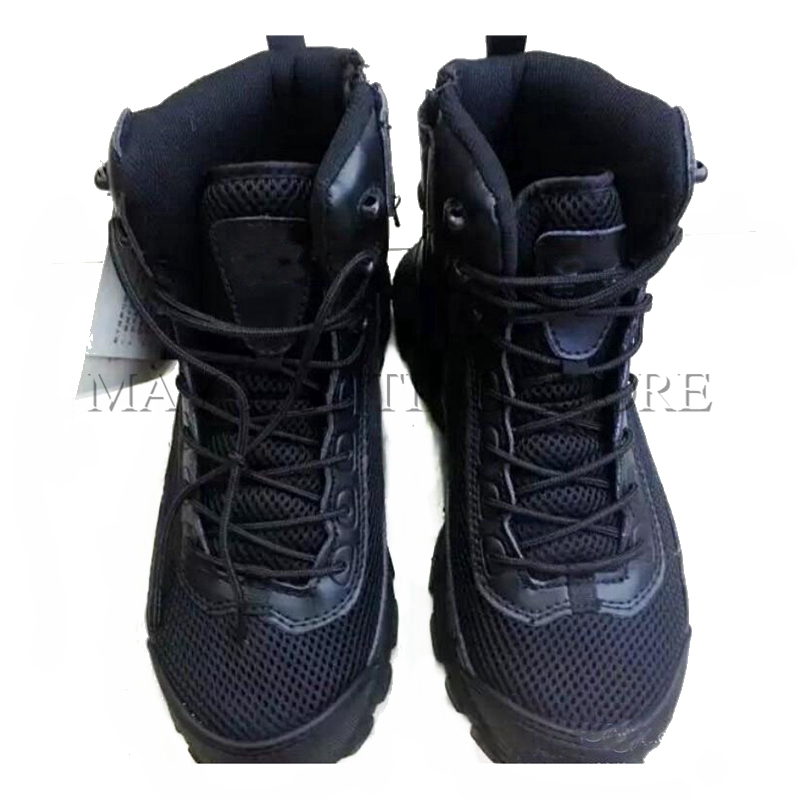 DUTOLE Black Sand Mesh Durable  Boots Tactical Military Combat Boots Outdoor Hiking Fishing Travel Hunting Climbing Shoes Black