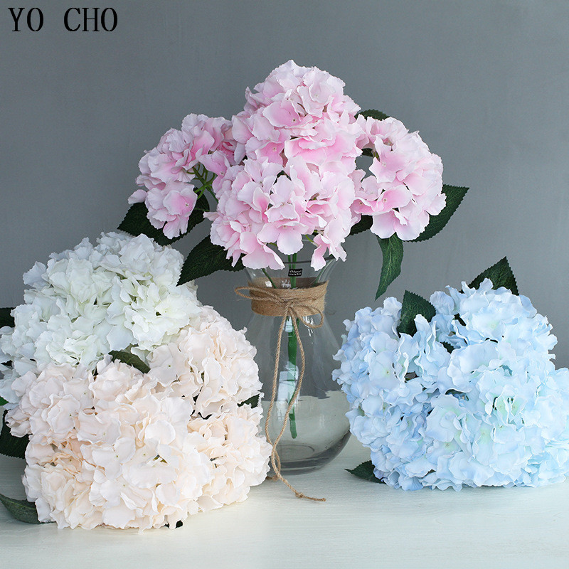 1-10Pcs Artificial Fake Tulip Silk Flower Bridal Hydrangea Home Wedding Decor UK