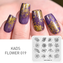 KADS Nail Stamping Plates 48 Designs Flower Butterfly Image Nail Art Stamp Template Stamper Stencil for Nails Manicure Tool