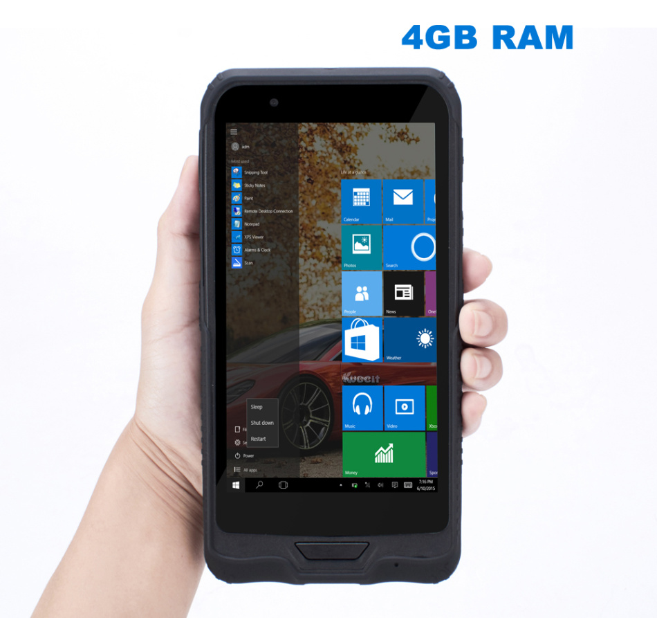 China K72H Windows 10 Rugged Waterproof Mobile PDA phone 4GB RAM 64GB ROM Handheld Data Tablet PC GPS 2D Scanner K62H Upgrade image