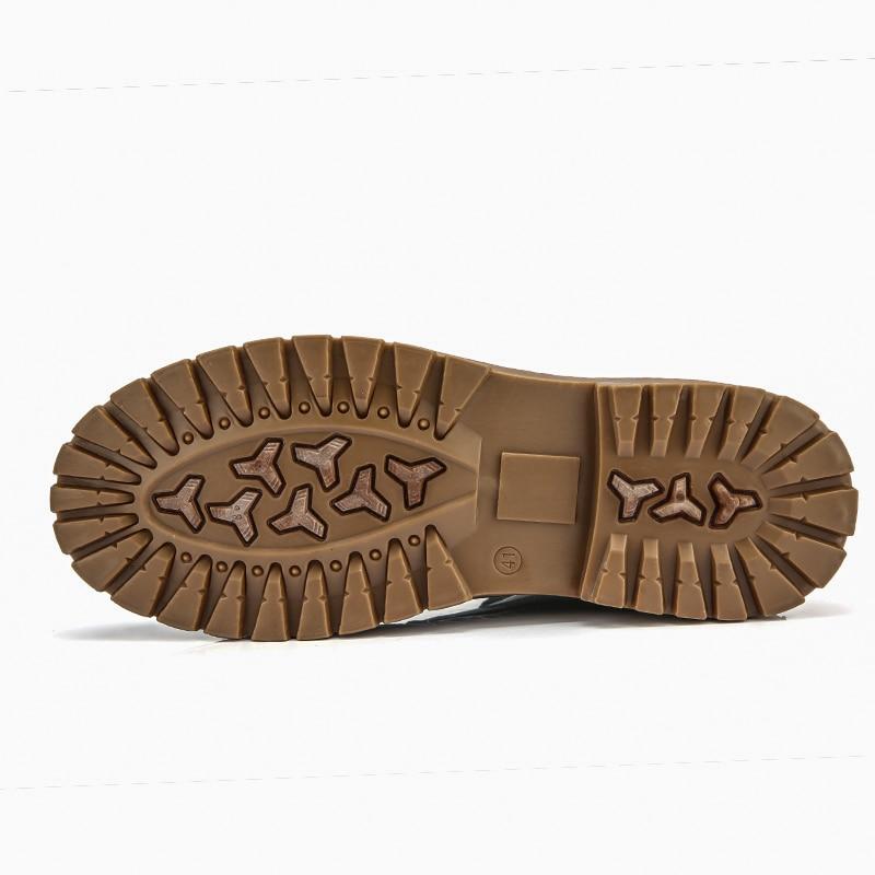 Masculina Hombre brown grey Invierno Marten Zapatos Marca De Black Moda Tobillo Para Botas Cálido Cuero Bota gFqCwddvH