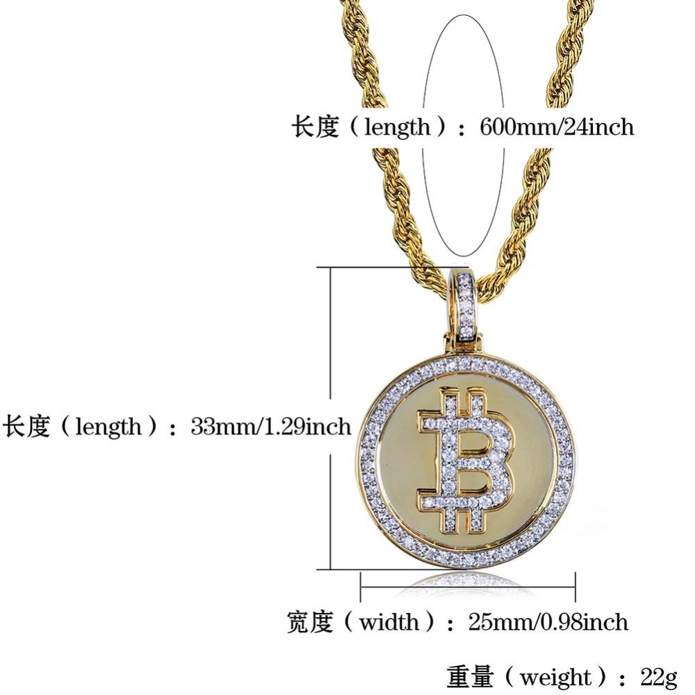 Bitcoin Bling Bling Pendant 5