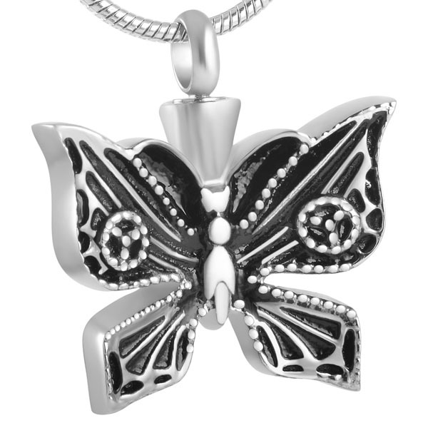 Carved Butterfly Urn Necklace