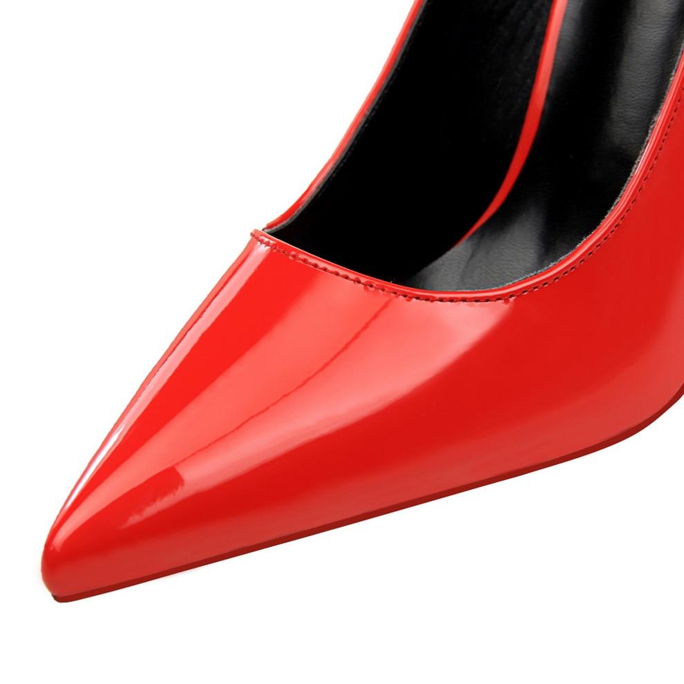 Beige En Bigtree Et Simple Femmes Mince Haut Mode 10 Rose Pointu Peu Chaussures Cuir Cm Verni noir Sexy Profonde Bouche Pompes argent De rose blanc Talon ggzqSwrx