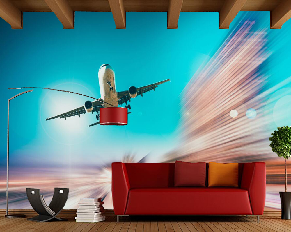 Custom 3d mural, Airplanes photo wallpaper, living room tv sofa wall kitchen bedroom restaurant bar coffee shop 3d wallpaper free shipping 3d personality wallpaper sofa tv coffee house bar backdrop living room bedroom bathrom wallpaper mural