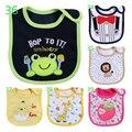 Bibs do bebê Recém-nascido de Algodão Desgaste Babadores Burp Cloths Infantil Saliva toalhas Bibs Bandana Do Bebê Para 0-3 Anos Bebê Bandana Livre grátis