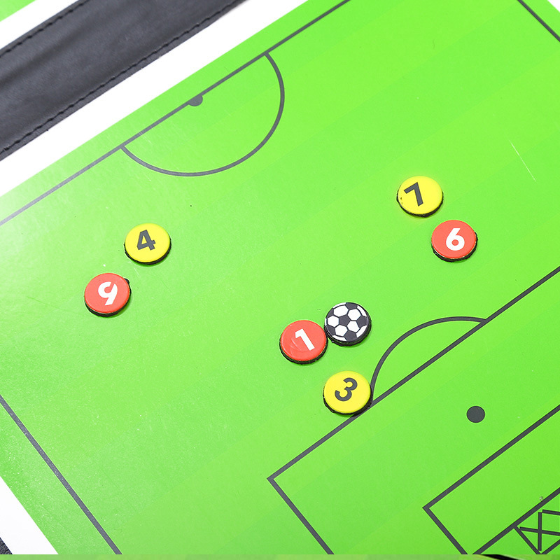 Foldable Magnetic Leather Football Tactic Board (7)