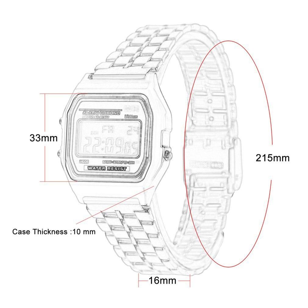 СВЕТОДИОДНЫЙ цифровой ремешок из нержавеющей стали, наручные часы, ультра тонкий, для женщин, бизнес, для детей, для мужчин, для мальчиков, спортивные, для путешествий, для улицы, подарки