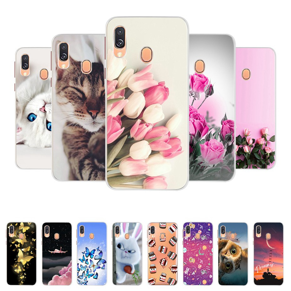 Case For Samsung A40 Case Cover on for Samsung Galaxy A40 A 40 A405F A405 SM-A405F Phone Cases Fundas Coque Soft Silicone Bumper