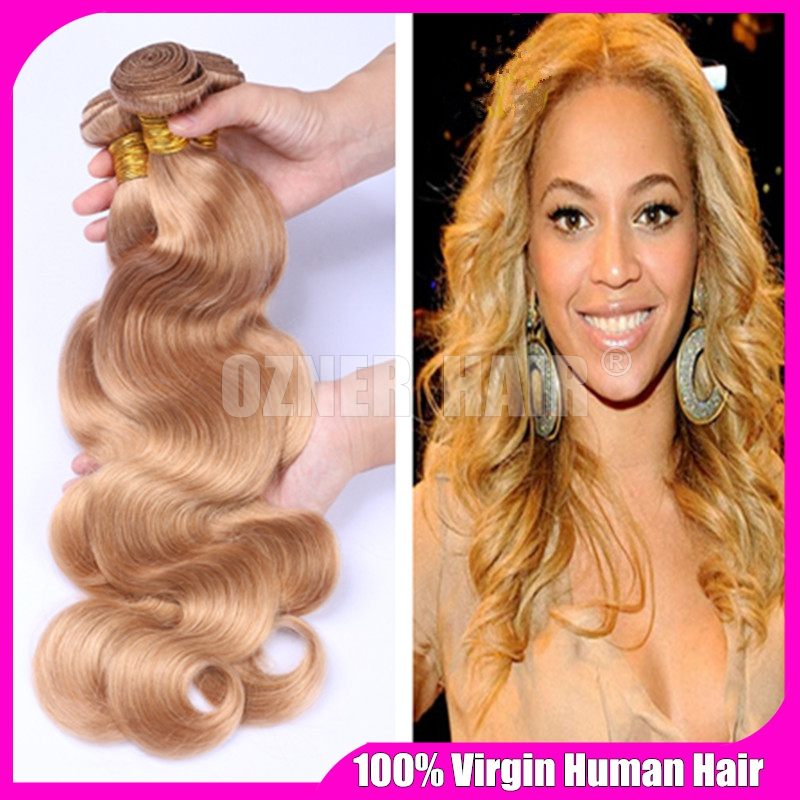Beyonce hair style 27 light brownhoney blonde raw indian body beyonce hair style 27 light brownhoney blonde raw indian body wave wavy virgin human hair weave weft extensions 3 bundles lot in hair weaves from hair pmusecretfo Image collections