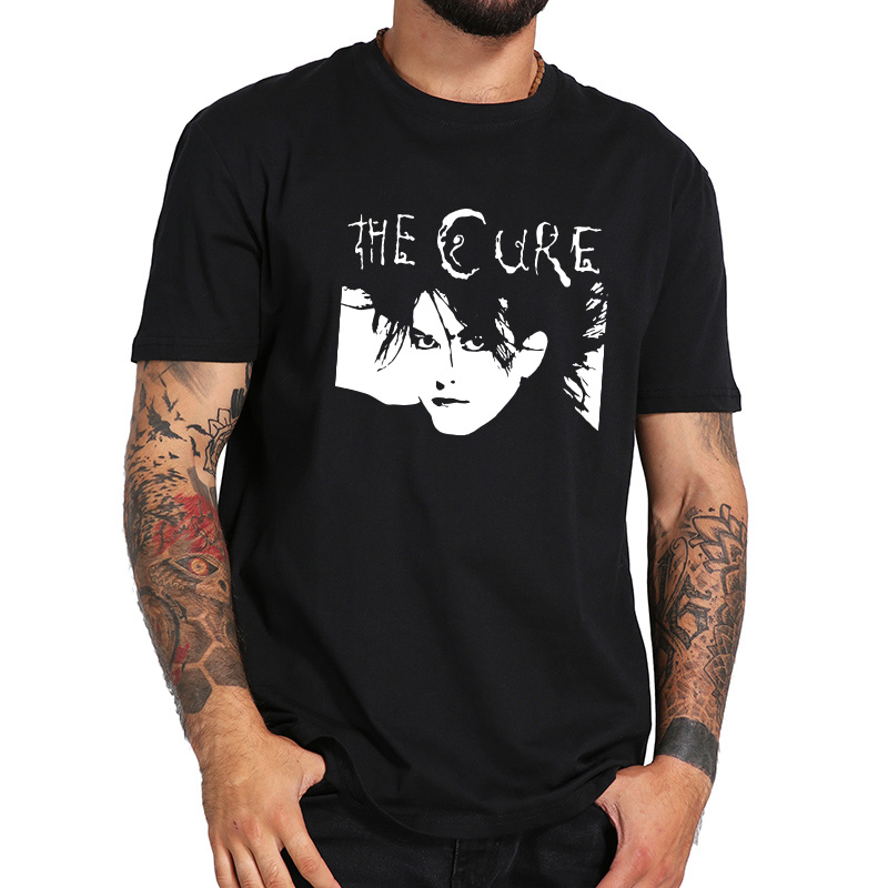 The Cure T Shirt Band Clothing Member Classical Tshirt Figure Outline Homme Casual Short Sleeve Loose EU Size 100% Cotton Tees