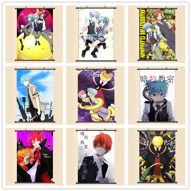 Us 379 5 Offansatsu Kyoushitsu Assassination Classroom Wall Scroll Painting 40x60 Picture Wallpaper Stickers Poster 001 In Painting Calligraphy