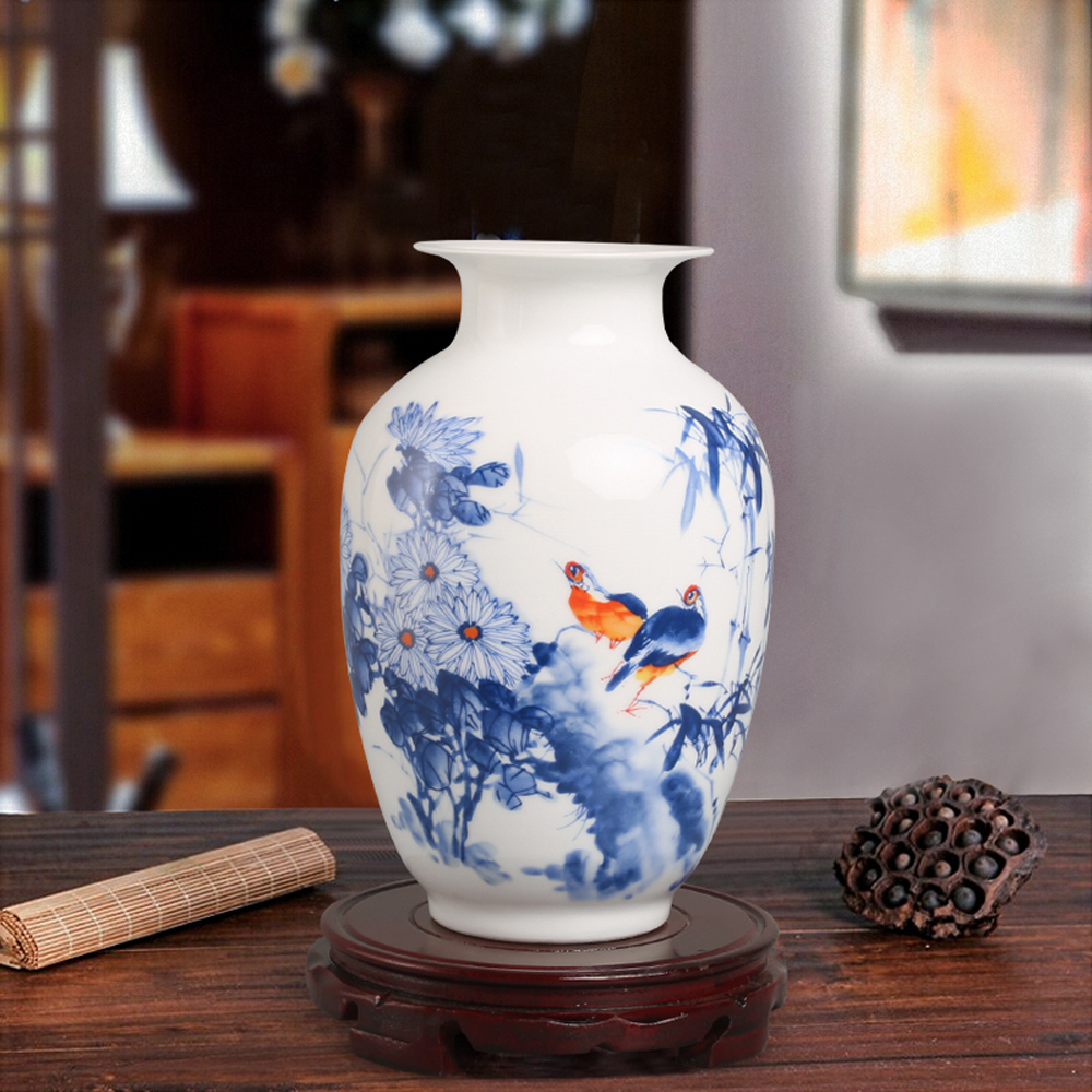 2016 chinese style porcelain flower vase china modern for Decoration vase
