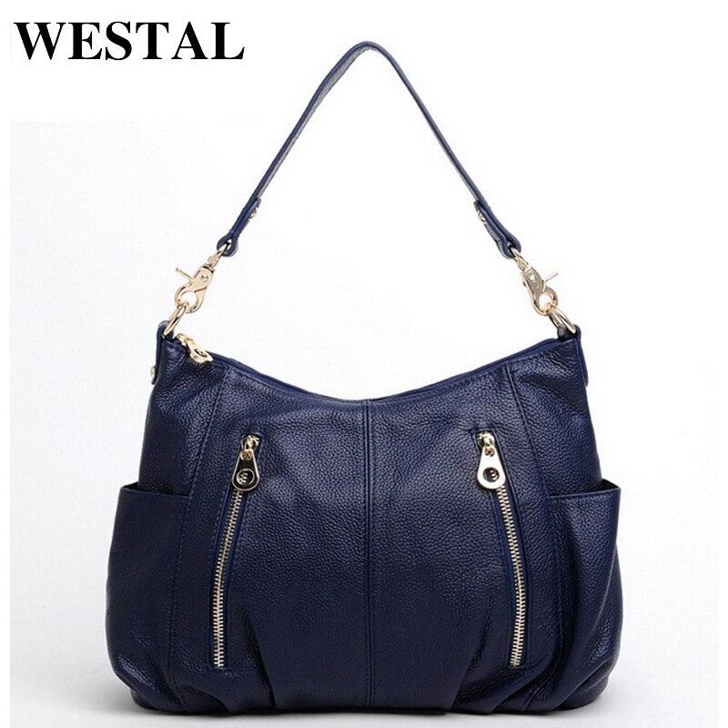WESTAL Fashion Genuine Leather Bag Women Bag Women Shoulder Crossbody Bags Lady