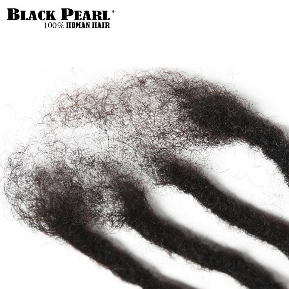 Черные Remy афро кудрявые дреды вязаные крючком косички 100% человеческие волосы Джамбо страшная прическа ручной работы дреды плетёные волосы