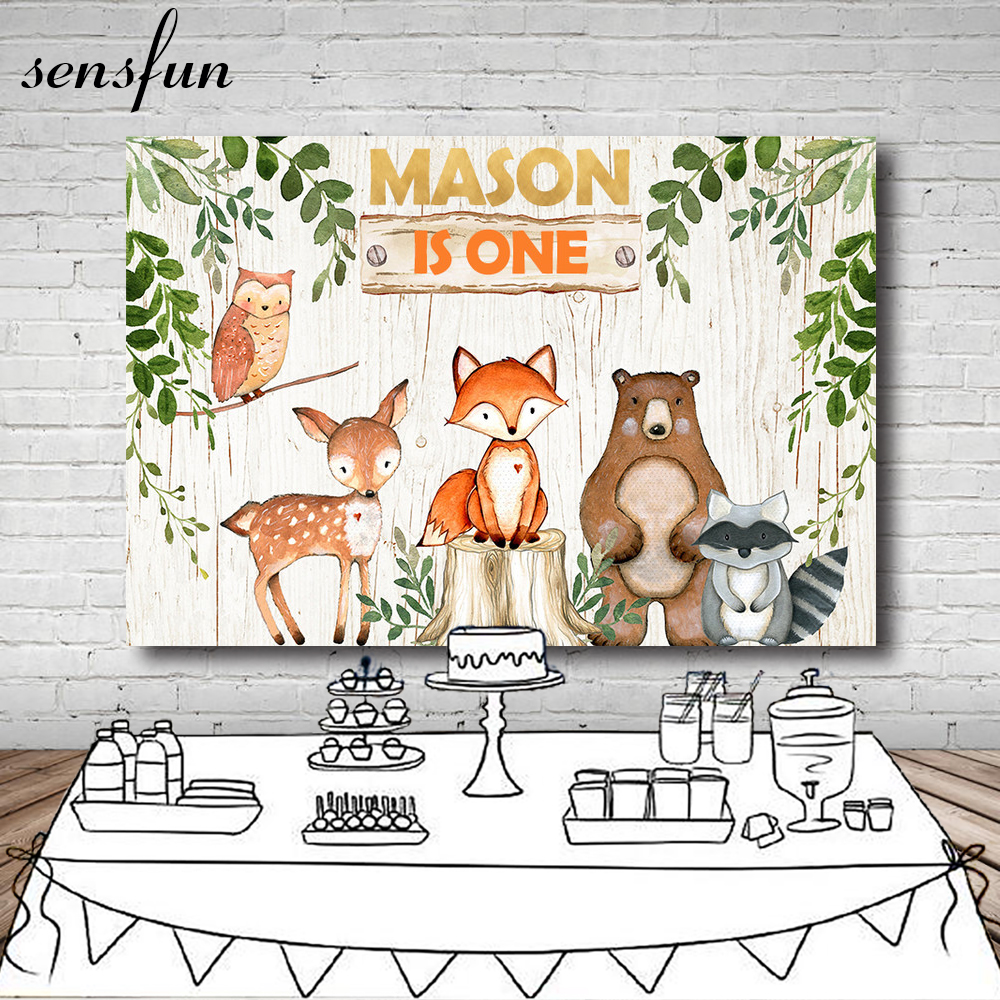Custom Tribal Woodland 1st Birthday Boho Rustic Pow Wow Decorations Tribal Animal Backgrounds Computer Print Party Backdrop Sale Price Background
