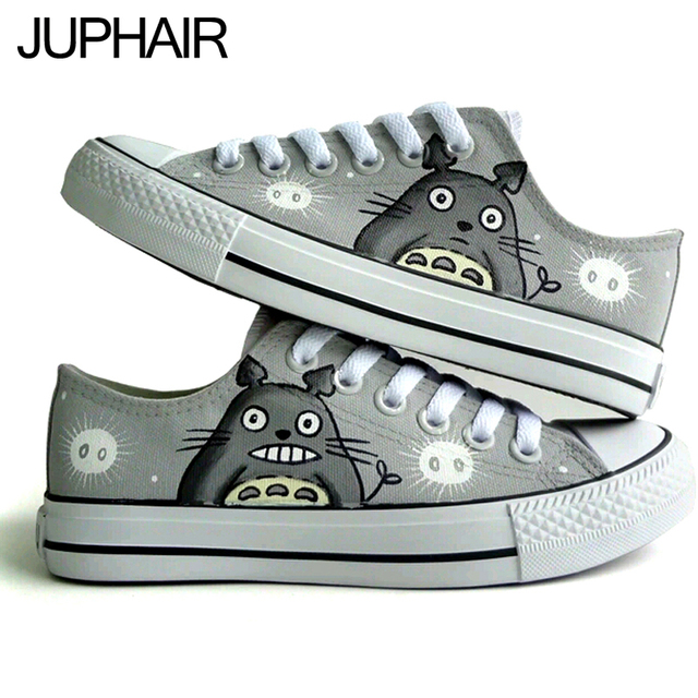 Totoro Hand Painted Canvas Shoes
