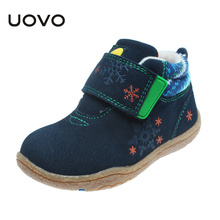 UOVO 2017 Children Boot Fashion Boys Girls Winter Snow Boots keep Warm Felt Boots Plush Ankle Snow Shoes Boy Outdoor Snow Boots