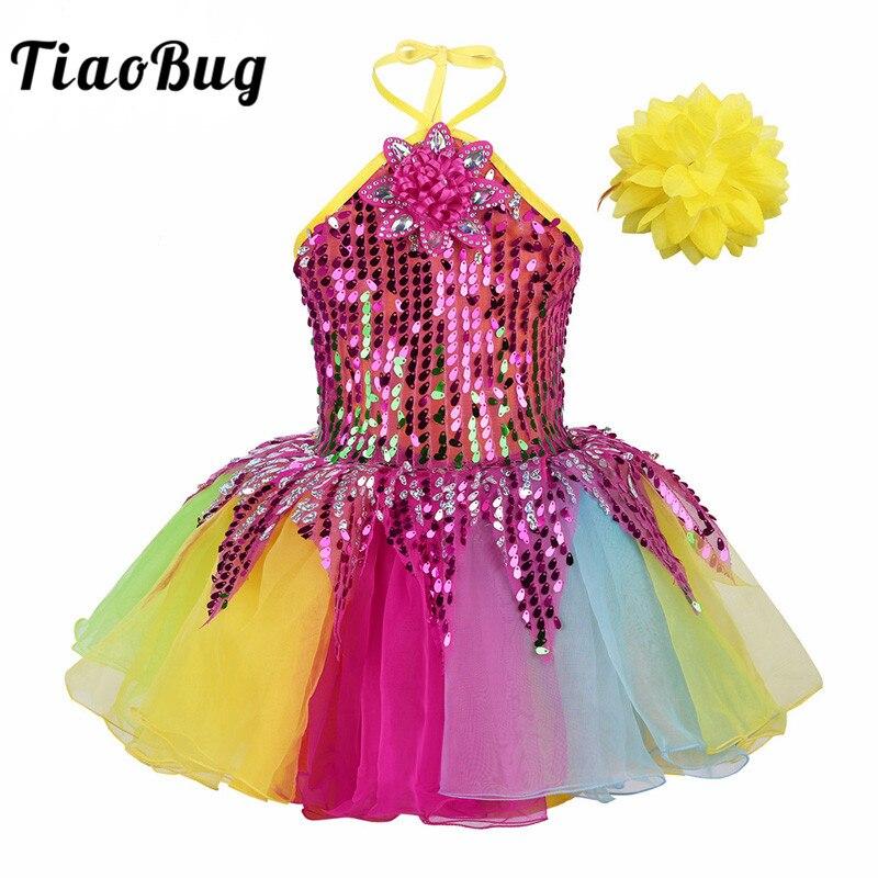 tiaobug-girls-kids-halter-sequins-flower-applique-colorful-font-b-ballet-b-font-tutu-dress-wristband-set-ballerina-stage-performance-dancewear