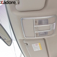 ABS Chrome Front Rear Reading Light Lamp Cover Roof Interior Car Accessories For Mazda 3 M3