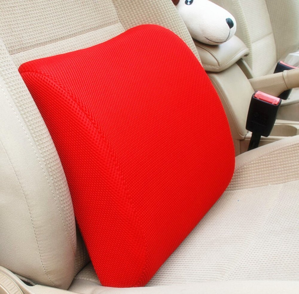 Aliexpress com buy red high resilient memory foam seat back lumbar cushion support pillow car office chair back support from reliable foam seat suppliers