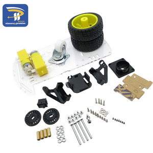 Image 4 - New Avoidance tracking Motor Smart Robot Car Chassis Kit Speed Encoder Battery Box 2WD Ultrasonic module For Arduino kit