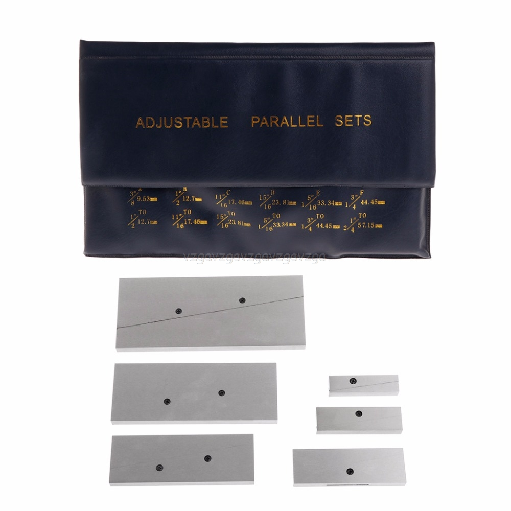 Adjustable Parallel Sets Precision Steel Tools 6Pc 3/8 - 2-1/4 For layout, inspection, stop work, set-up N23 dropshipAdjustable Parallel Sets Precision Steel Tools 6Pc 3/8 - 2-1/4 For layout, inspection, stop work, set-up N23 dropship