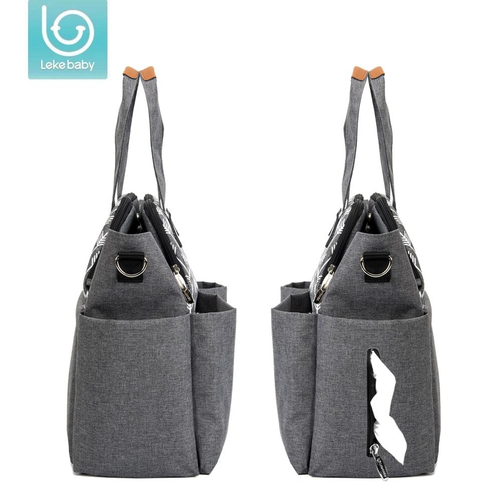 Baby Travel Changing Diaper Bag Mummy Maternity Nappy Bag Organizer Baby Bag Stroller Messenger Bags Handbags For Moms (2104 gray)