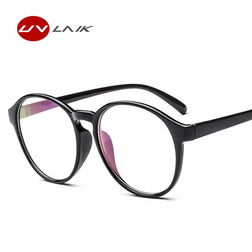 70352e849d ... UVLAIK Fashion Optical Glasses Frame Glasses With Clear Glass Brand Men  Degree Clear Transparent Glasses Women ...