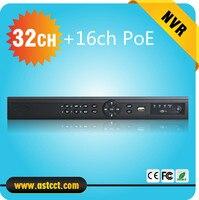 זיהוי הפנים Full HD 5MP טלוויזיה במעגל סגור 16ch NVR 32CH nvr wih POE עבור מצלמת ה-ip רשת HDMI מקליט וידאו 32 ערוץ NVR עם 16 CH POE